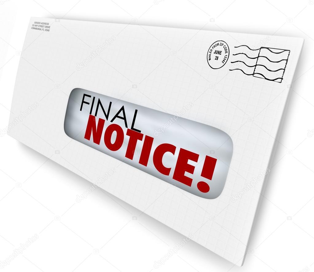 Letzte Mahnung Umschlag Wechsel Rechnung überfällig Jetzt Bezahlen