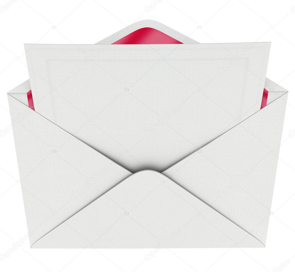 Blank envelope red lining invitation letter opening message stock blank envelope red lining invitation letter opening message photo by iqoncept stopboris Images