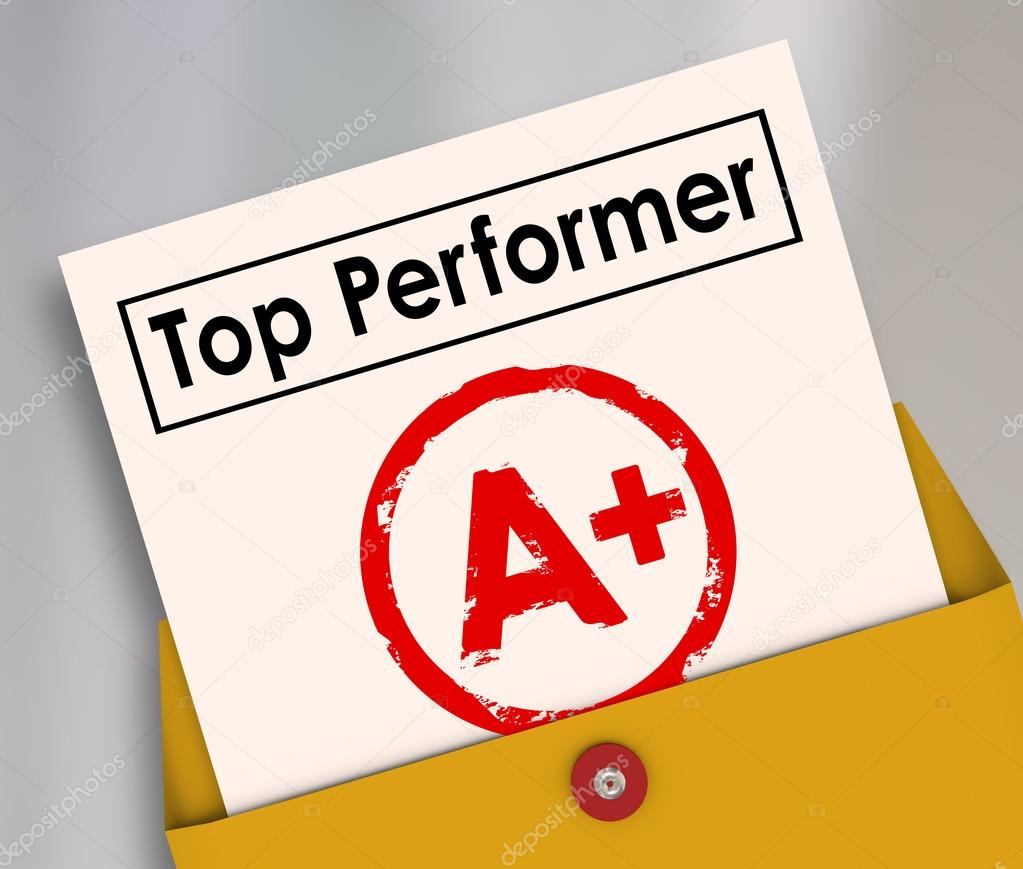 Report Card | Top Performer Report Card Stockfoto C Iqoncept 74265413