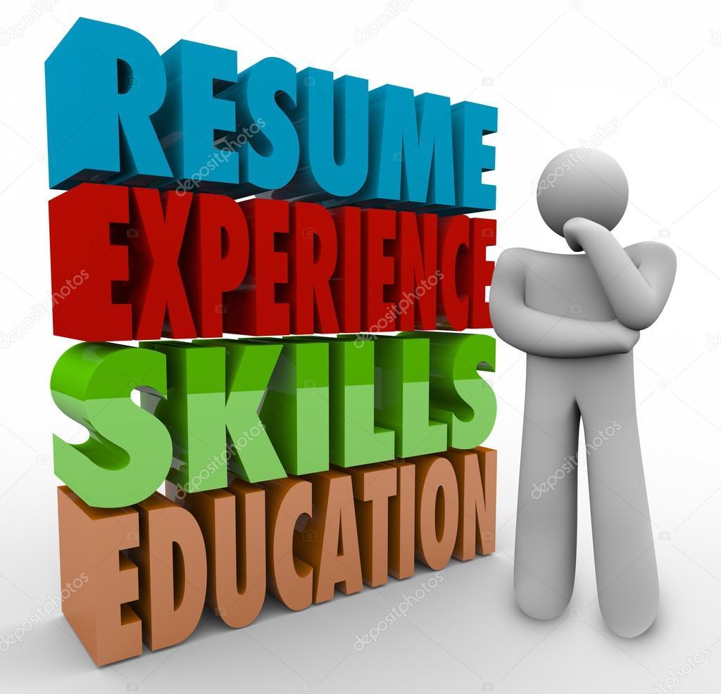 Resume Experience Skills Education — Fotos de Stock © iqoncept #78381086