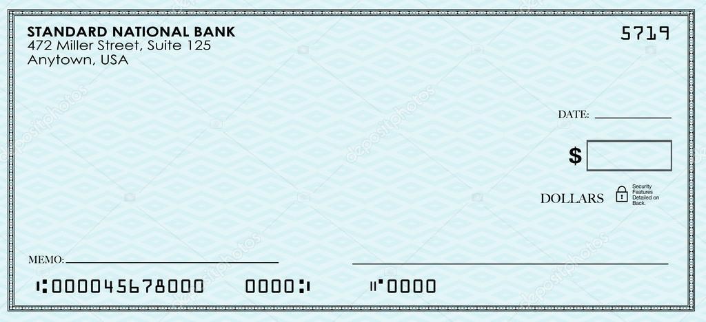 blank check money ストック写真 iqoncept 83286550