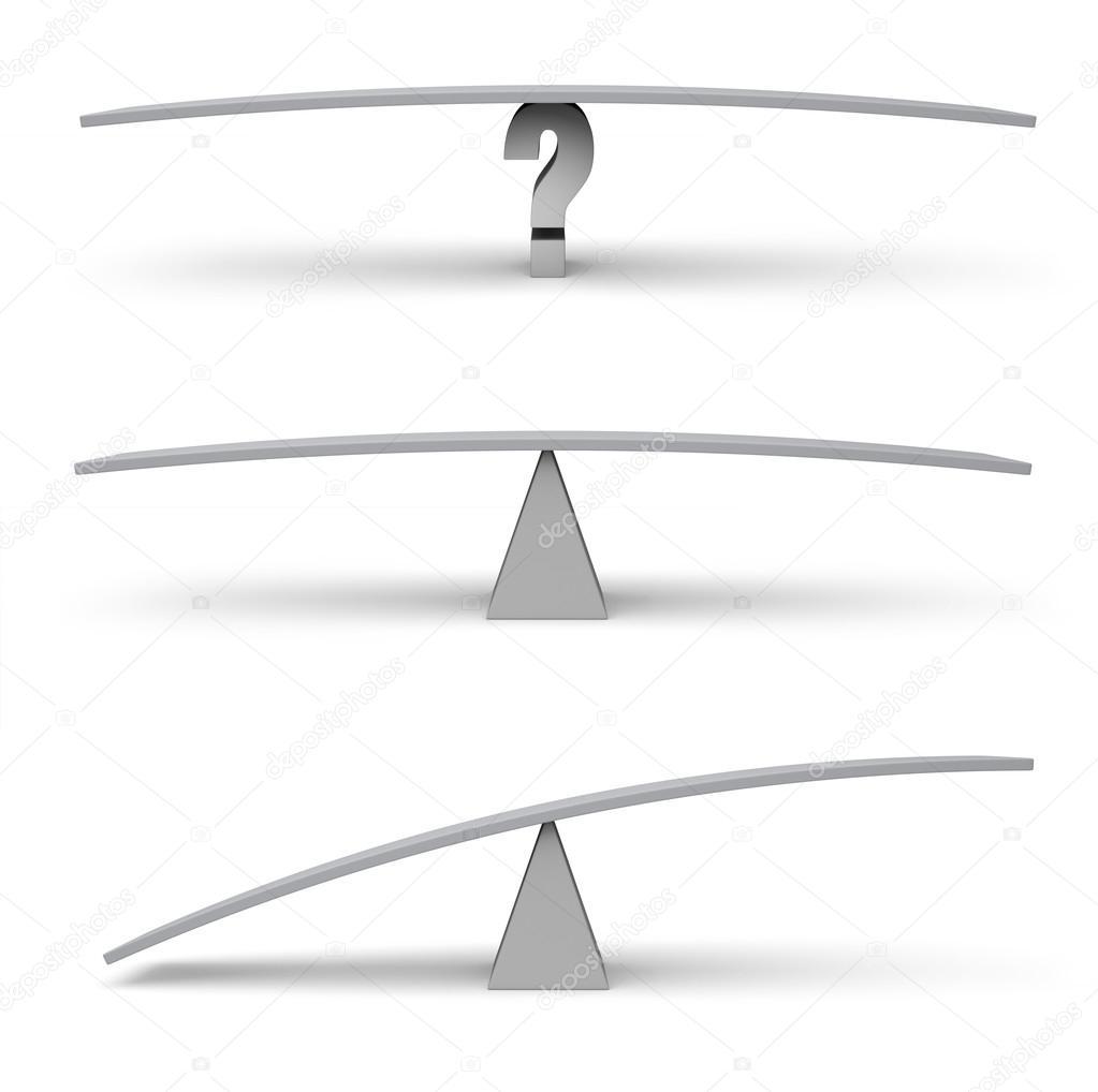 Three Empty Balance Beam Scales