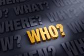 Fokus auf die Frage, wer?
