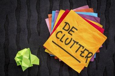 declutter reminder or advice