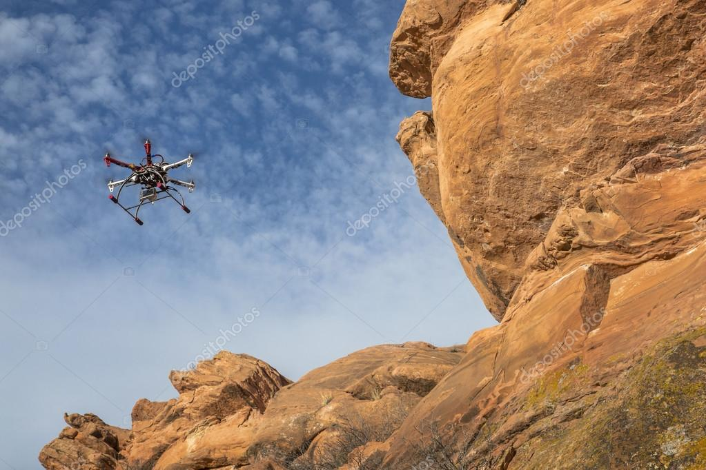 airborne hexacopter drone