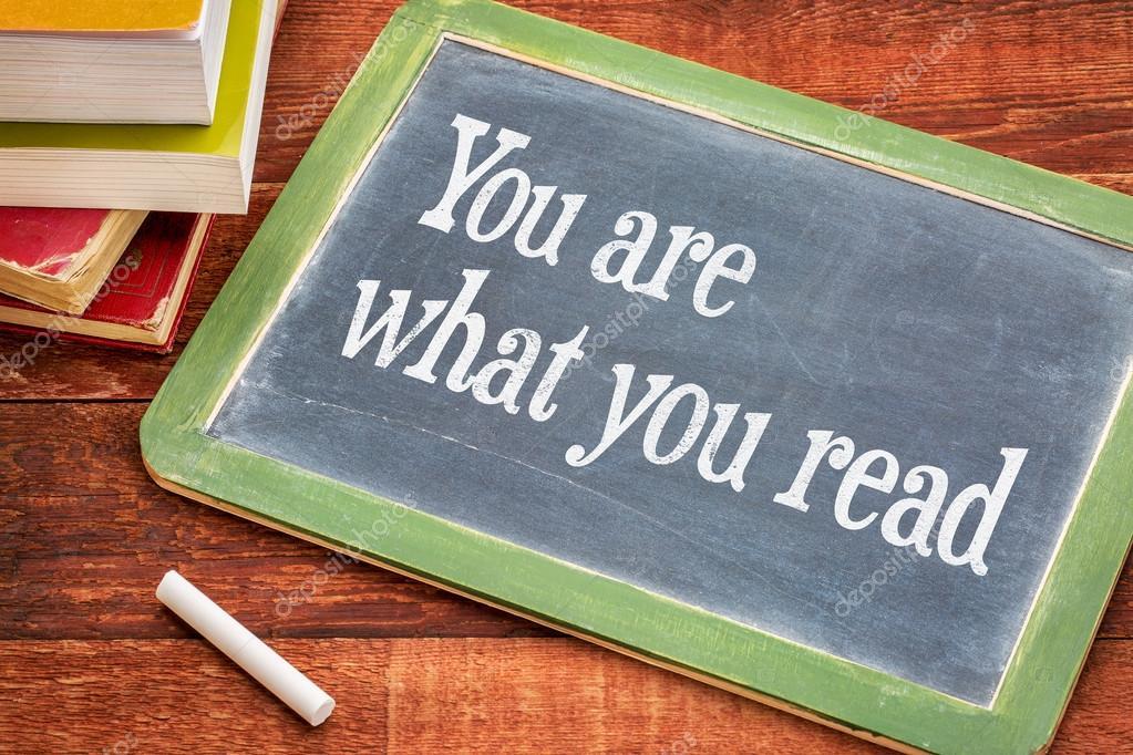 Você E Leitura Frase No Quadro Negro Stock Photo