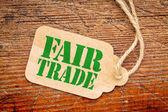 Fényképek a méltányos kereskedelem jel-on egy ár cédula