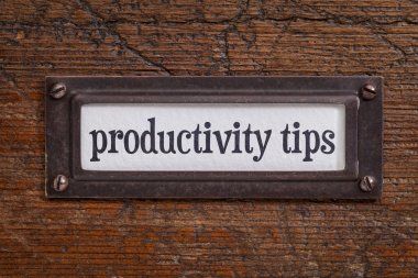 productivity tips - file cabinet label