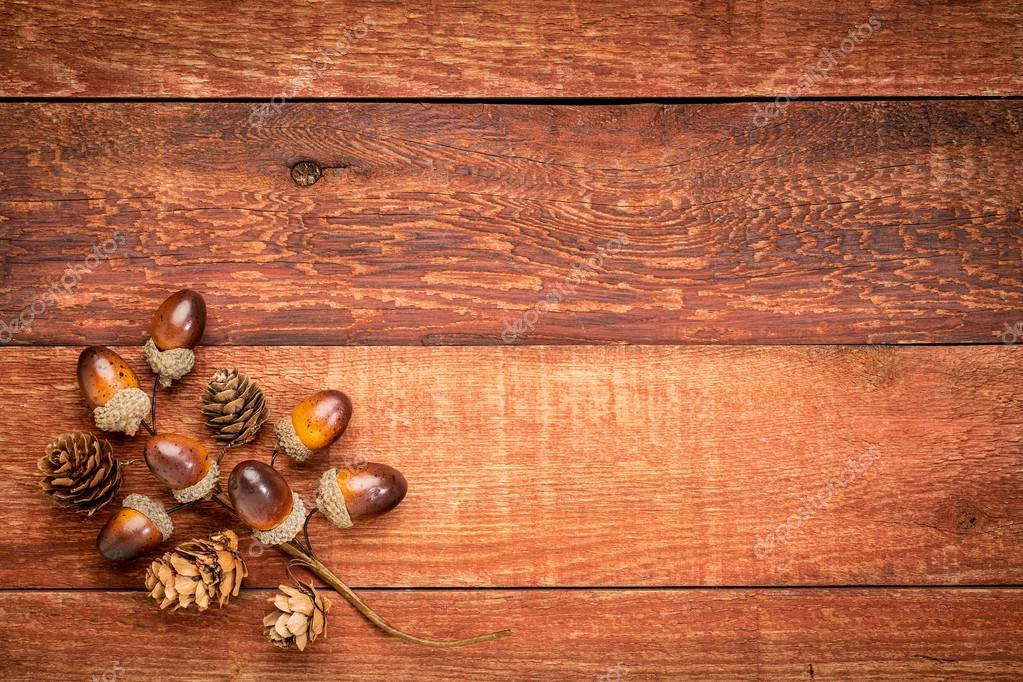 red barn wood. Red Barn Wood With Fall Decoration \u2014 Stock Photo