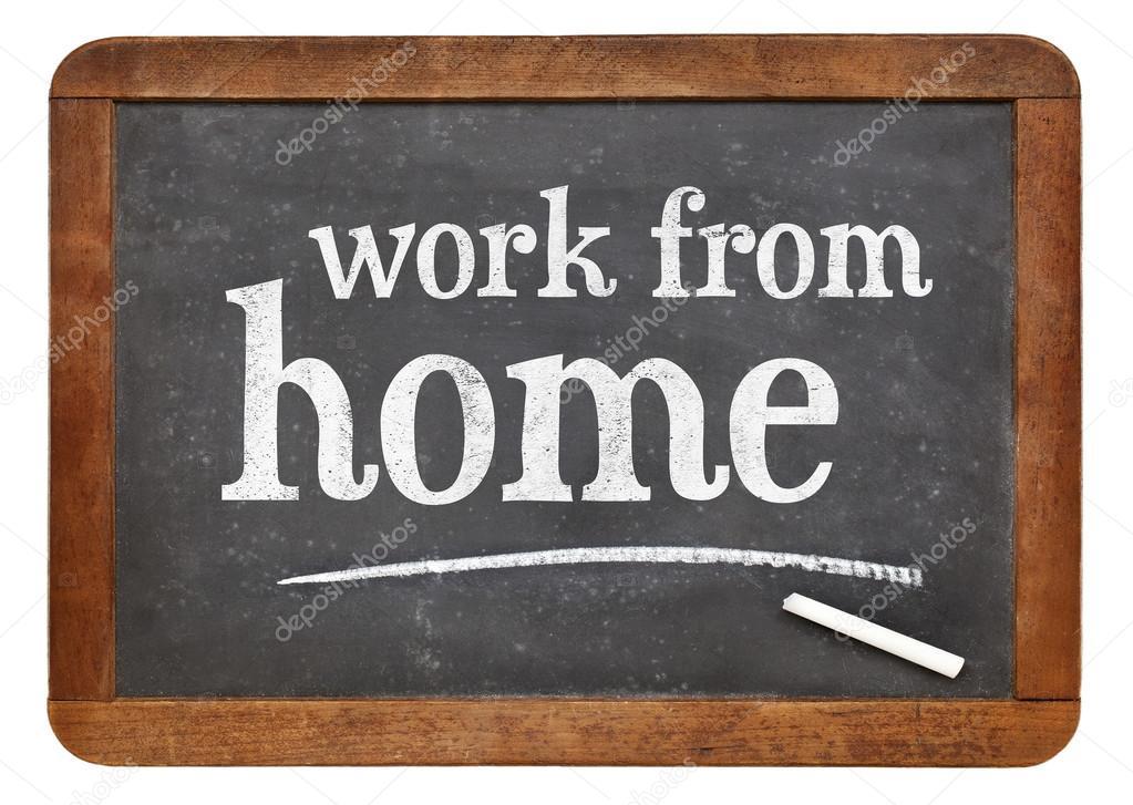 Work from home advice on blackboard