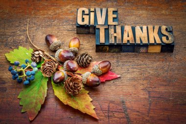 give thanks - Thanksgiving concept
