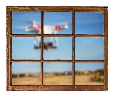 drones and privacy violation concept