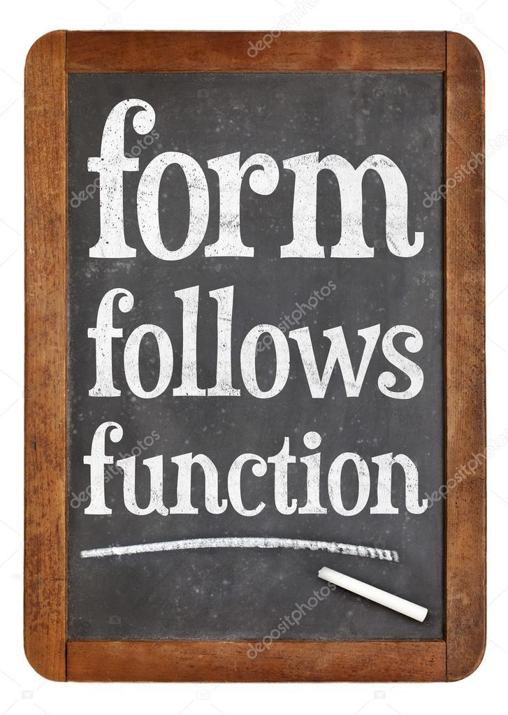 La Forma Segue La Funzione Di Un Principio Di Progettazione Foto