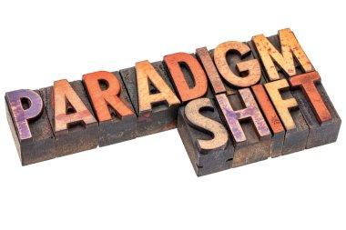 paradigm shift in vintage wood type