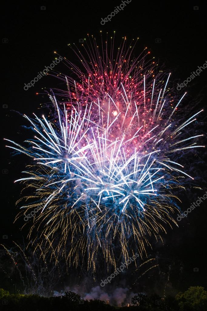 Beautiful colorful fireworks — Stock Photo © franky242 #52040153