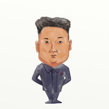 Kim Jong-un  Supreme Leader of North Korea Cartoon