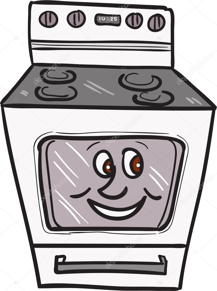 oven smiley face cartoon stock vector patrimonio 120505224