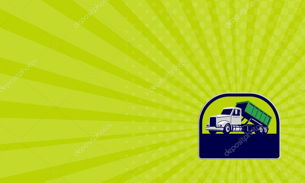 Business card roll off truck side up half circle retro stock photo business card roll off truck side up half circle retro stock photo colourmoves