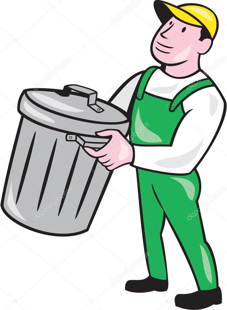 Garbage collector comptable bin dessin anim image vectorielle patrimonio 54073997 - Dessin de poubelle ...