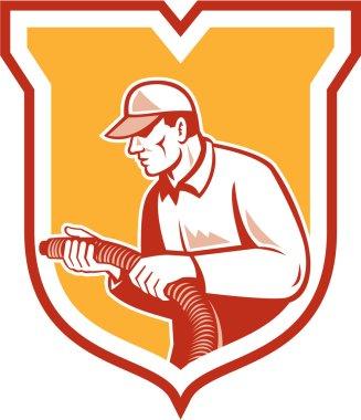 Home Insulation Technician Retro Shield