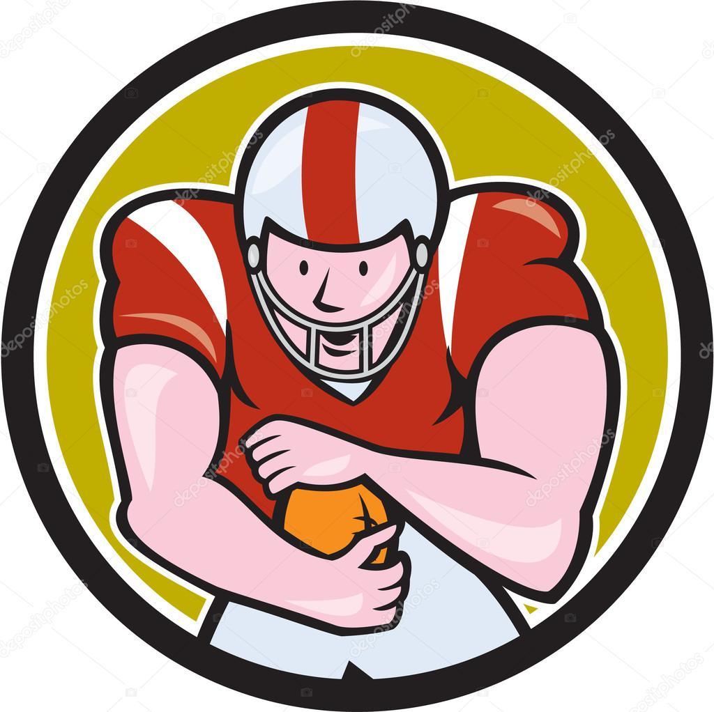 Fútbol americano funcionamiento detrás círculo dibujos ...