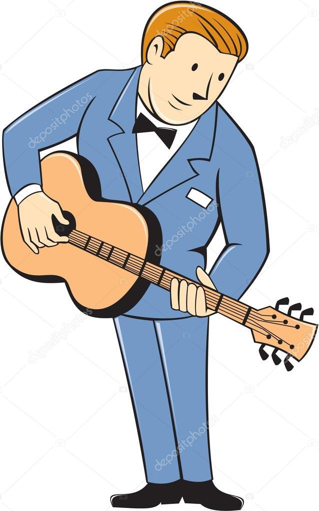 m u00fasico guitarrista permanente guitarra dibujos animados vector de stock  u00a9 patrimonio 64790405 guitar vector file guitar vector photoshop