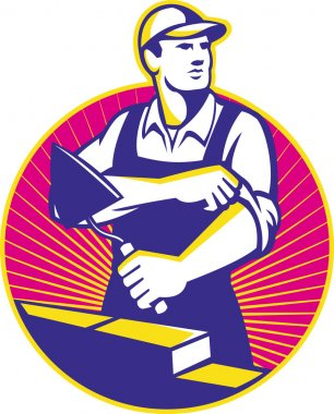 Mason construction worker