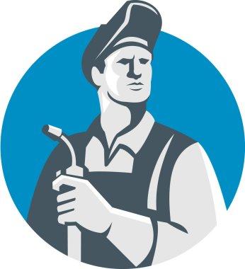 Welder Holding Welding Torch