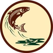 Losos ryby skákací Retro vody