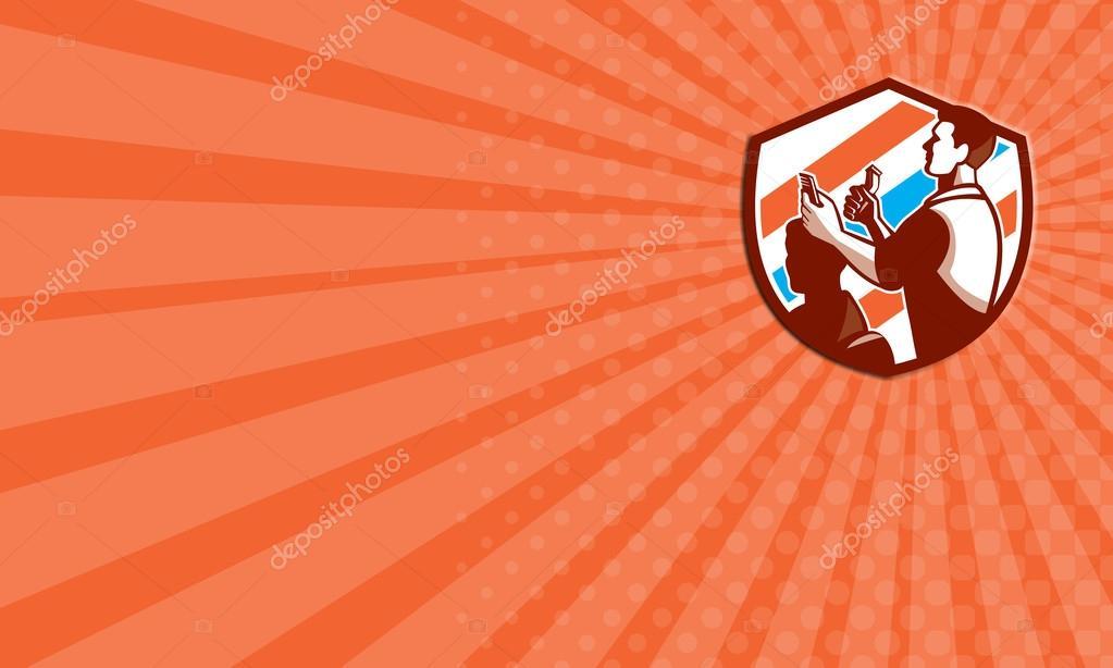 Business card barber scissors comb cutting shield retro stock business card barber scissors comb cutting shield retro stock photo colourmoves