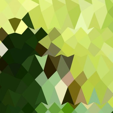 Apple Green Abstract Low Polygon Background