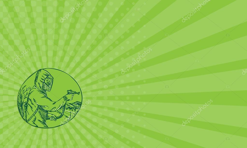 Carte De Visite Herbicide Pesticide Control Exterminateur Pulverisation Eau Forte Images Stock Libres Droits