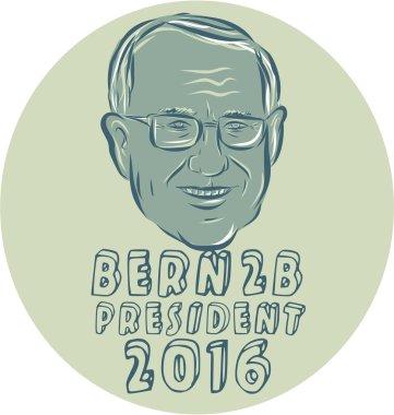 Bernie Sanders President 2016 Circle