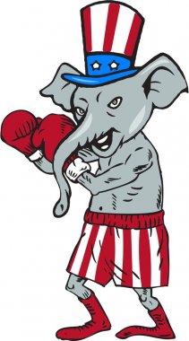 Republican Mascot Elephant Boxer