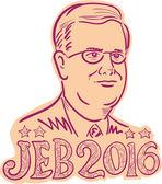 Jeb Bush 2016 prezident kreslený
