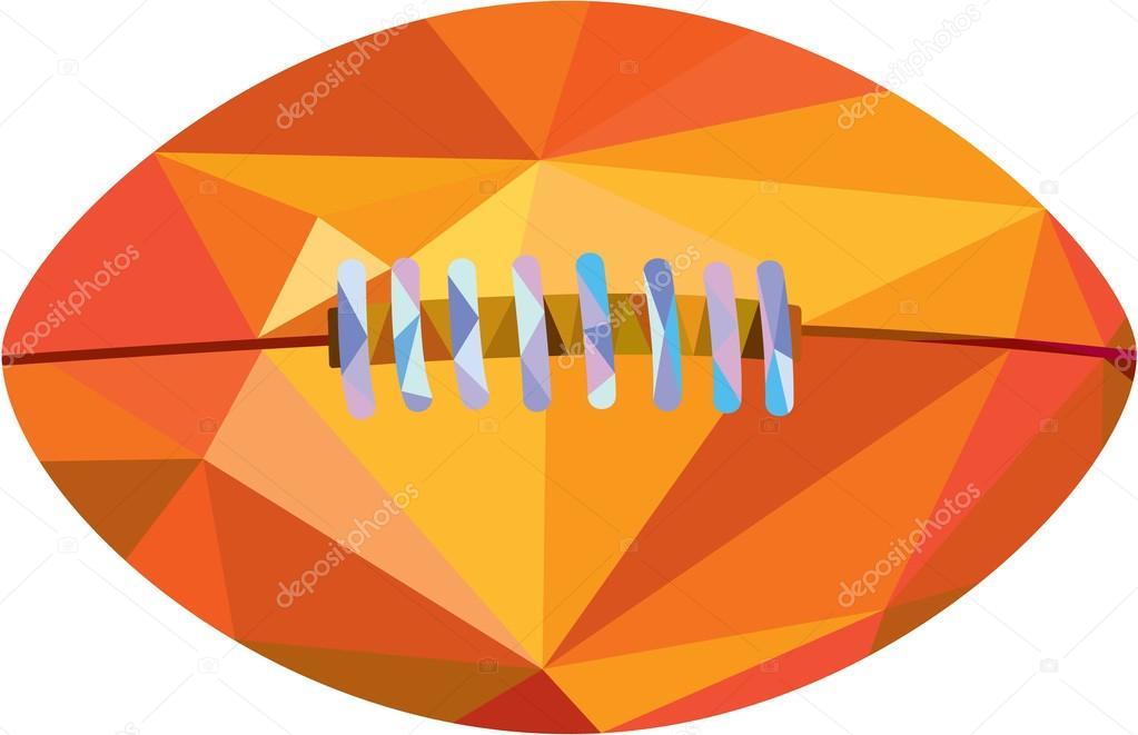 4169d0401c Ilustración de estilo de polígono bajo de una pelota de fútbol americano