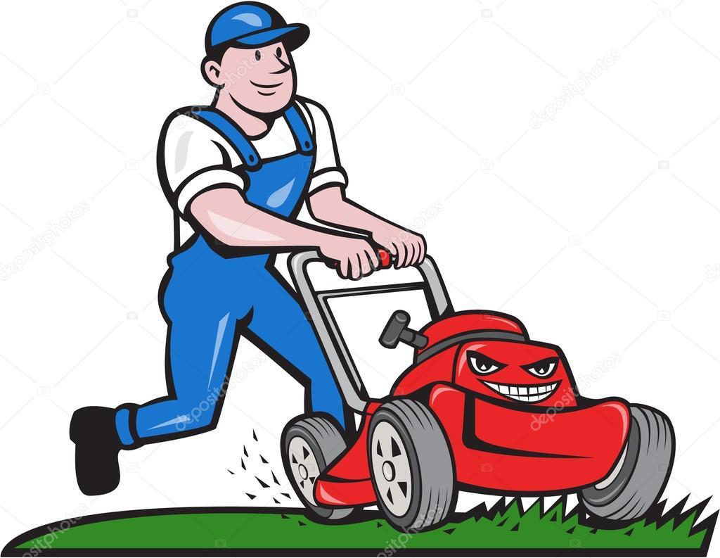 jardinier tonte tondeuse cartoon image vectorielle clip art lawn mower guy clip art lawn mower races