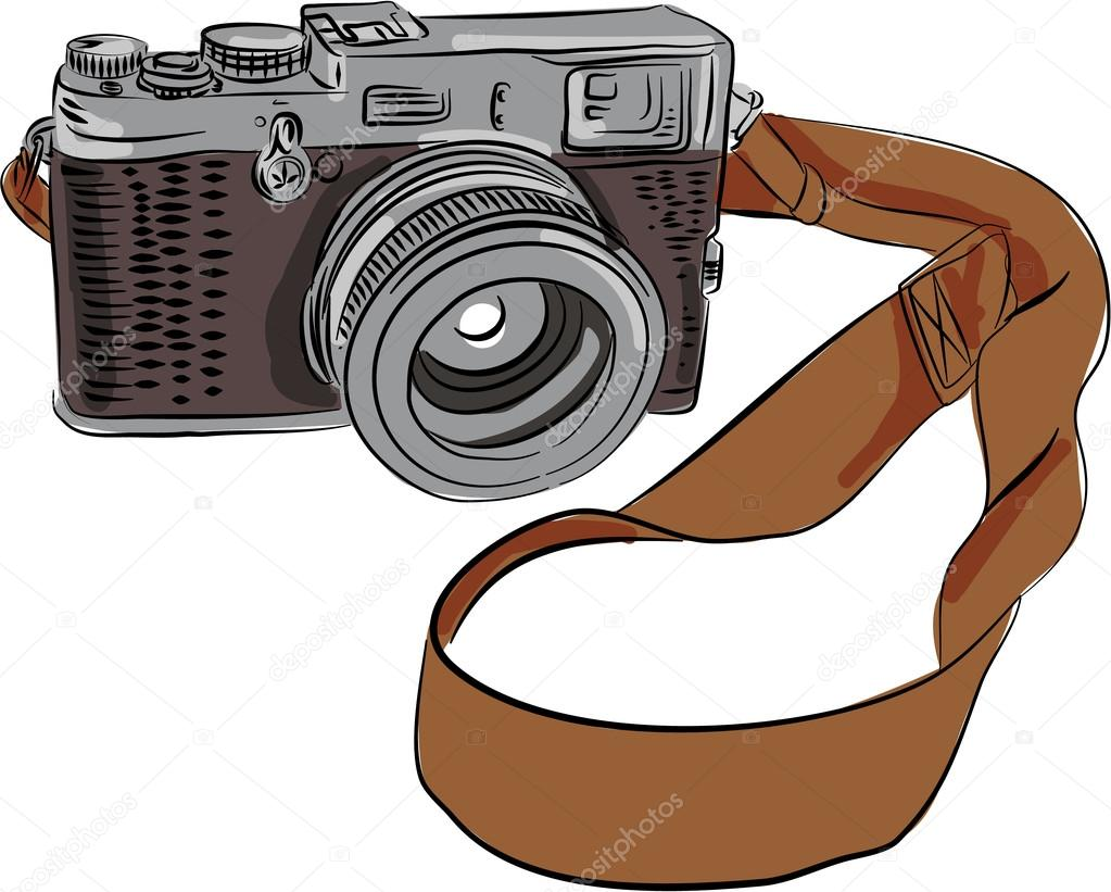 Vintage Camera Drawing Isolated Stock Vector C Patrimonio 96346382
