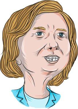 Hillary Clinton Caricature