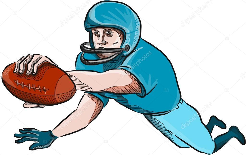 Joueur de football am ricain touchdown dessin image vectorielle patrimonio 97266870 - Dessin football americain ...
