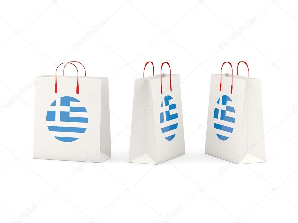 Vlag Stockfoto Op Van © — Mishchenko Tassen Griekenland Shopping lT1Jcu3FK