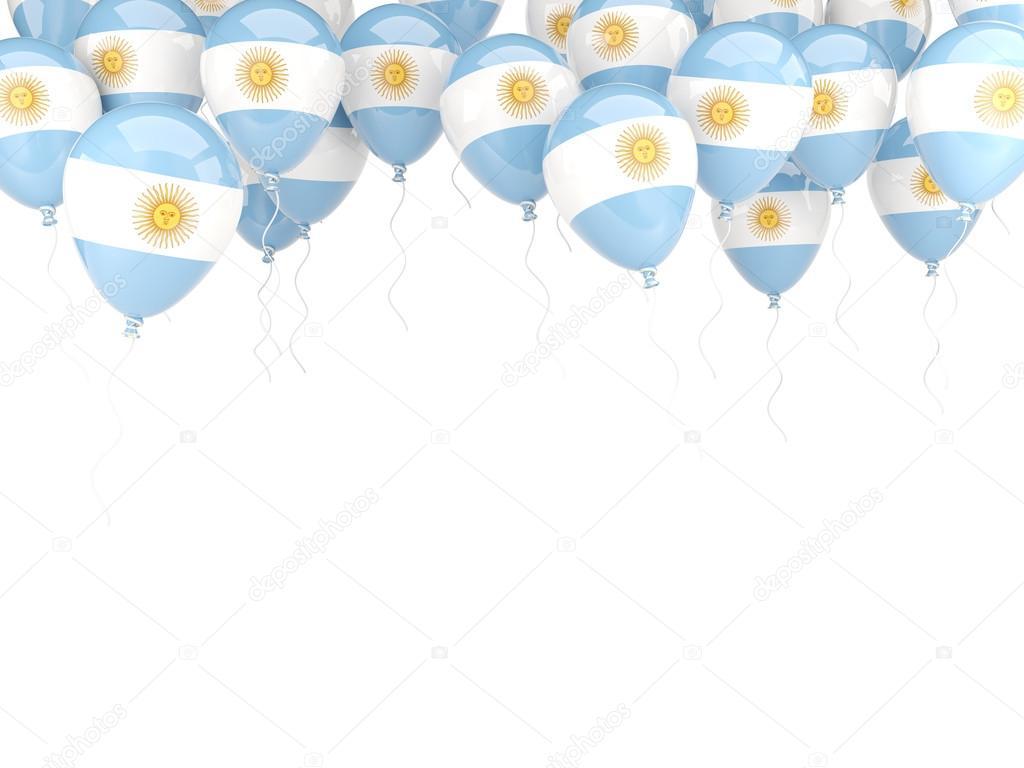 Marco De Globo Con La Bandera De Argentina