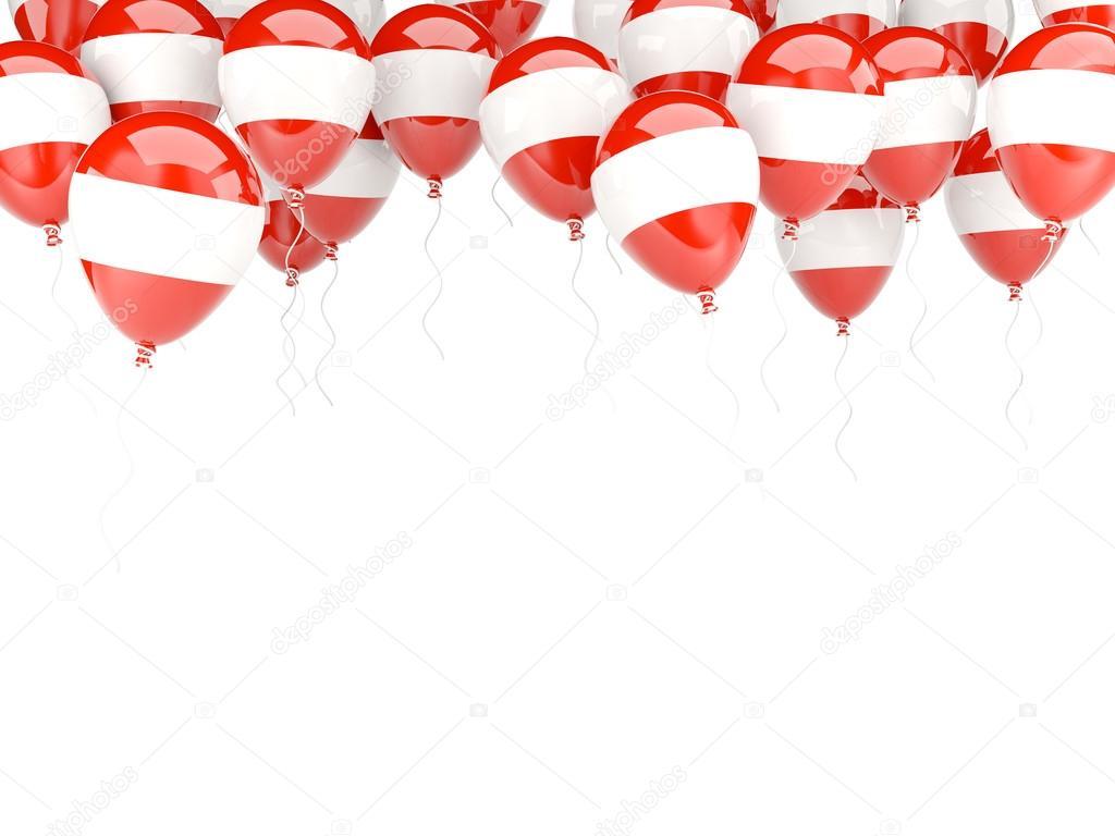 Ballon-Rahmen mit Flagge von Österreich — Stockfoto © Mishchenko ...