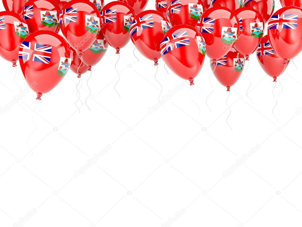Ballon-Rahmen mit Flagge Bermudas — Stockfoto © Mishchenko #58039403