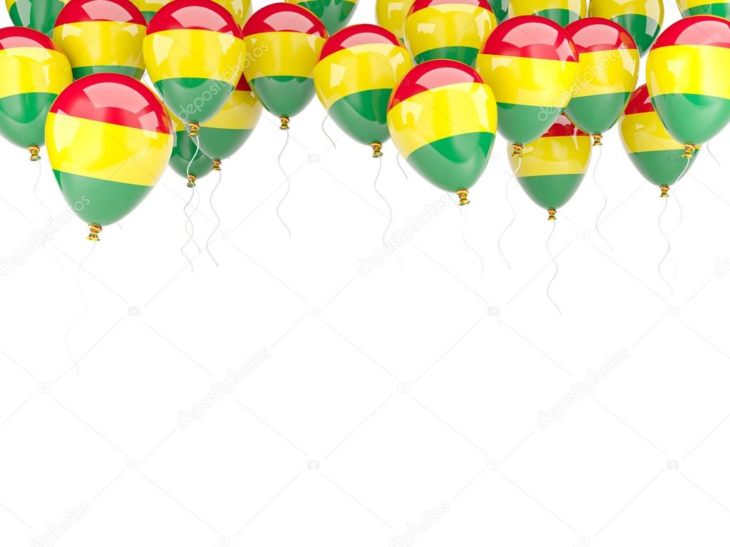 Ballon-Rahmen mit Flagge Bolivien — Stockfoto © Mishchenko #58039709
