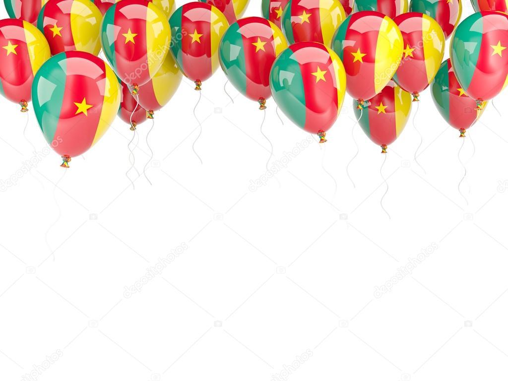 Ballon-Rahmen mit Flagge Kamerun — Stockfoto © Mishchenko #58041011