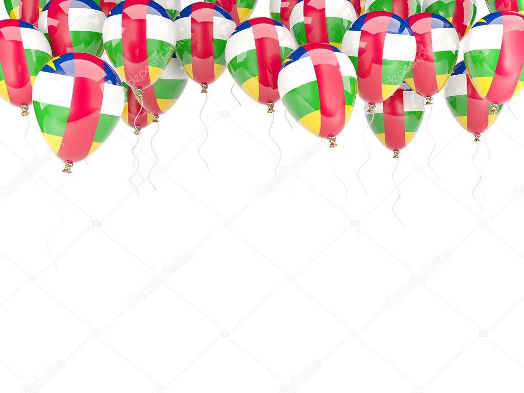 Ballon-Rahmen mit Flagge der Zentralafrikanischen Republik ...