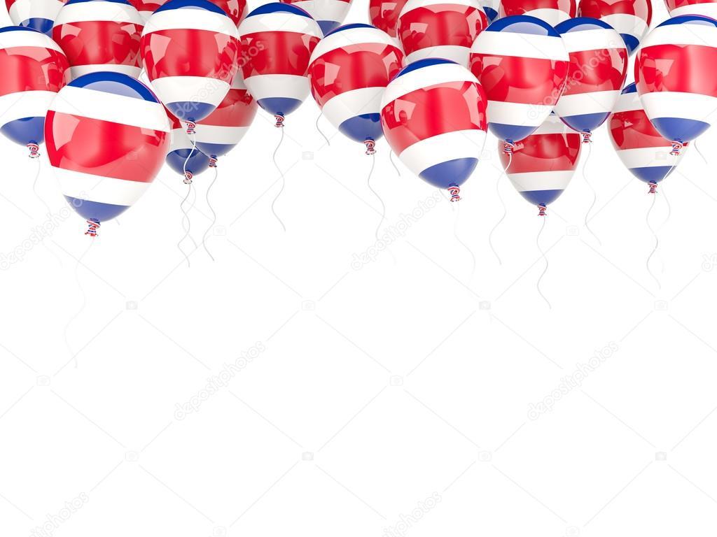 Marco de globo con la bandera de costa rica — Foto de stock ...