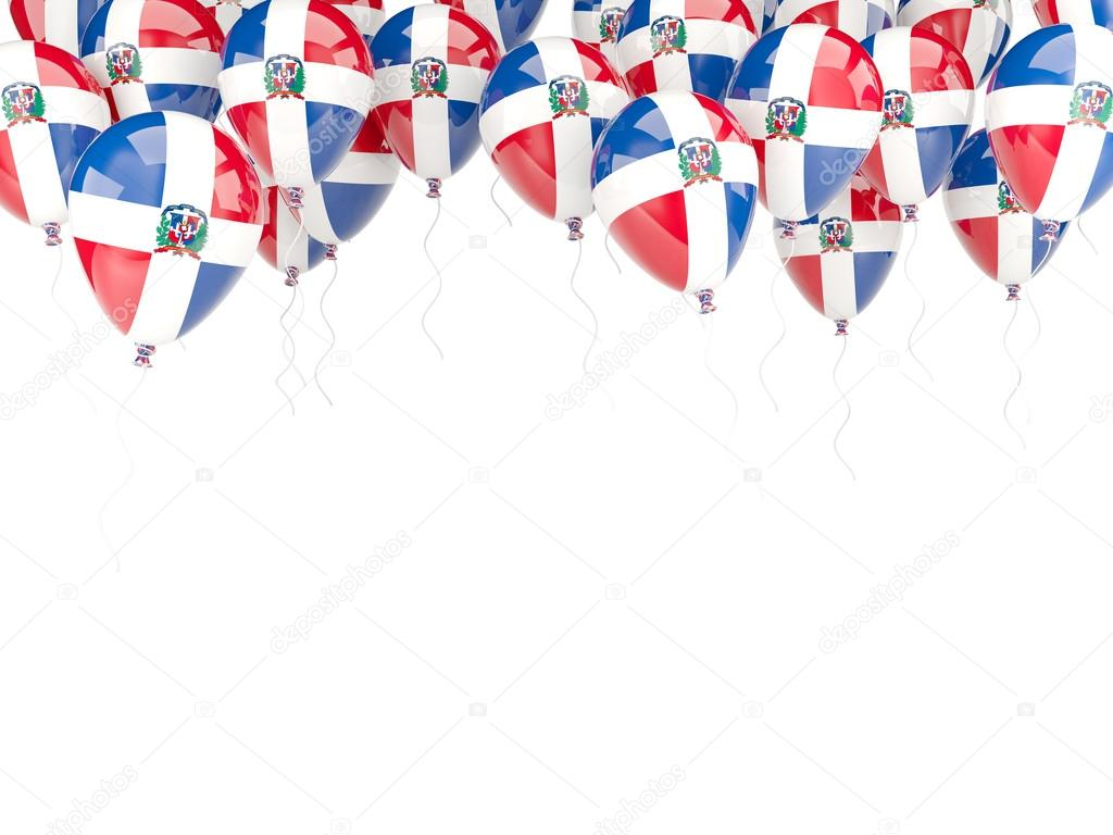 Marco de globo con la bandera de República Dominicana — Foto de ...