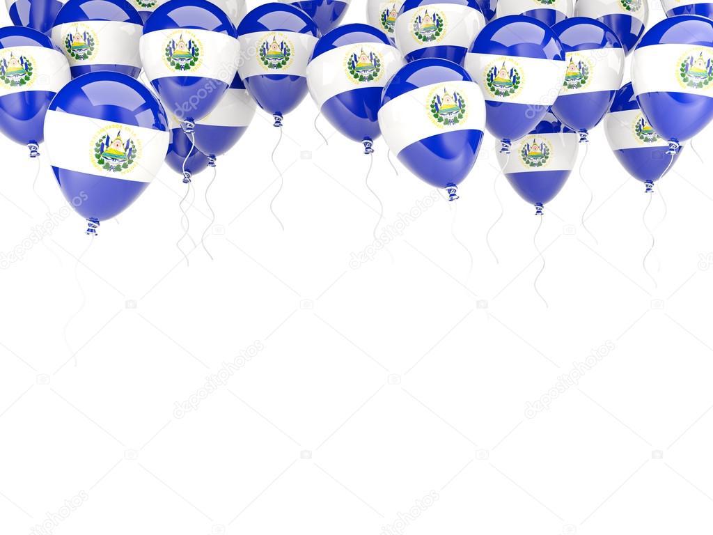 Marco de globo con la bandera de el salvador — Foto de stock ...